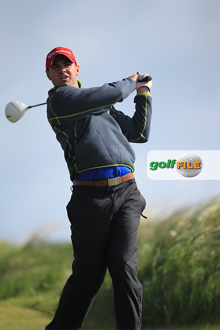 Joseph Glynn (Dun Laoghaire Golf Club)<br /> playing in the Etihad Airways PGA Sprint at Seapoint Golf club.<br /> Picture:  Fran Caffrey www.golffile.ie