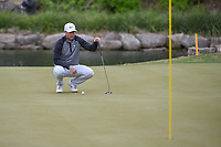 Lucas Bjerregaard (DEN) lines up his birdie attempt on 11 during day 5 of the WGC Dell Match Play, at the Austin Country Club, Austin, Texas, USA. 3/31/2019.<br /> Picture: Golffile | Ken Murray<br /> <br /> <br /> All photo usage must carry mandatory copyright credit (&copy; Golffile | Ken Murray)