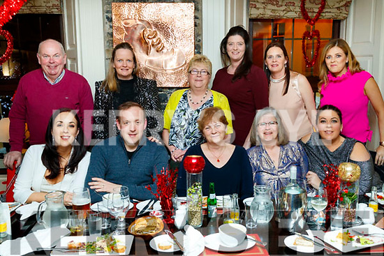 Looby Kiely and Meehan enjoying a family reunion at the Brogue Inn, Tralee, on Saturday night last, were front l-r: Jennifer Looby, Joe Looby, Betty Meehan, Kathleen Hughes Jordan and Christabel Quirke. Back l-r: Patrick Meehan, Deirdre Looby, Mary Looby, Kathleen O'Keeffe, Nora Twomey and Siobhan Cooke.
