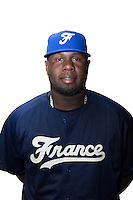 18 September 2012: Rene Leveret poses prior to Team France practice, at the 2012 World Baseball Classic Qualifier round, in Jupiter, Florida, USA.