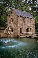 The Old Mill is a historic re-creation of an 1880's water-powered grist mill. at the corner of Fairway Avenue and Lakeshore Drive in North Little Rock. The structure is most famous for its part in the opening scenes of Gone With The Wind.