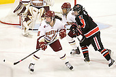 Ashley Motherwell (BC - 18), Blake Bolden (BC - 10), Katie MacSorley (NU - 3) - The Boston College Eagles defeated the visiting Northeastern University Huskies 2-1 on Sunday, January 30, 2011, at Conte Forum in Chestnut Hill, Massachusetts.