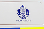 Police Scotland vehicle logo<br /> <br /> Image by: Malcolm McCurrach | New Wave Images UK<br /> Thu, 5, June, 2014