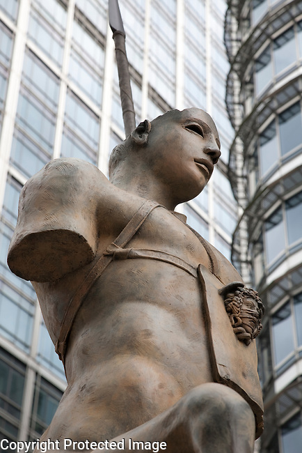 Centauro by Igor Mitoraj in Canary Wharf, London