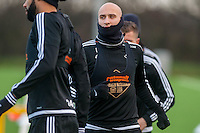 Wednesday  06 January 2016<br /> Pictured: Jonjo Shelvey of Swansea (C) in action during training<br /> Re: Swansea City Training session at the Fairwood training ground, Swansea, Wales, UK