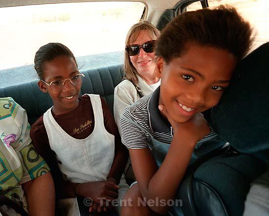 Matsidiso Smouse, Peggy Stack, Palesa Smouse.<br />