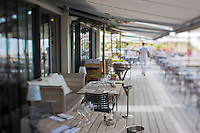 Europe/France/Aquitaine/33/Gironde/Bassin d'Arcachon/Pyla-sur-Mer: restaurant - Hôtel La Co(o)rniche -  par  Philippe Starck  [Non destiné à un usage publicitaire - Not intended for an advertising use] [Non destiné à un usage publicitaire - Not intended for an advertising use]