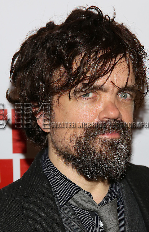 """Peter Dinklage attends the Opening Night of The New Group World Premiere of """"All The Fine Boys"""" at the The Green Fig Urban Eatery on March 1, 2017 in New York City."""