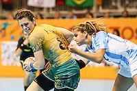 TORONTO, CANADA, 24.07.2015 - PAN-HANDBALL - Deonise do Brasil durante partida contra Argentina na final do Handball Feminino no Centro de Exposições de Toronto nesta sexta-feira, 24. (Foto: William Volcov/Brazil Photo Press)
