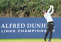 Kristoffer Broberg (SWE) on the 10th tee during Round 3 of the 2015 Alfred Dunhill Links Championship at Kingsbarns in Scotland on 3/10/15.<br /> Picture: Thos Caffrey | Golffile