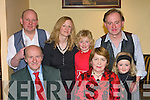 Peggy Murphy Castleisland celebrated a birthday with her family in the Crown Hotel Castleisland on Friday night Tim O'Connor, Peggy Murphy. Back row: Anthony O'Connor, Sandra, Aaron, Diana and PJ O'Sullivan