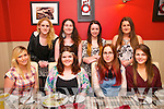 21st Birthday: Amy Canavan, Listowel celebrating her 21st birthday with friends at Eabha Joan's Restaurant on Fridaty nifgt last. Front: Karina Holly, Amy Canavan, Orla O'Connell & Kayleigh Donegan. Back : Michelle Henchy, Jennifer O'Donovan, Julie Collins & Laura McKenna.