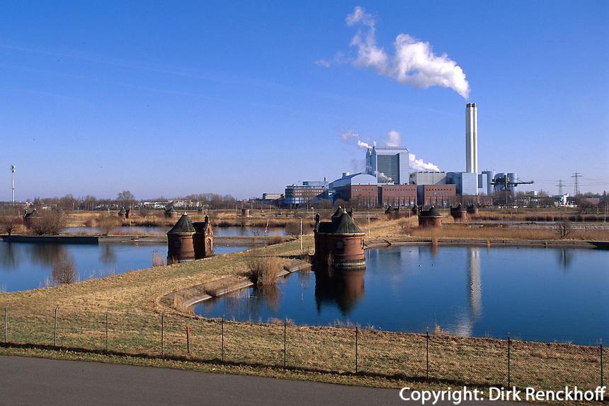 Deutschland, Hamburg, Wasserwerk Kaltehofe, Kraftwerk Tiefstack