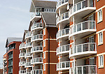 Modern luxury apartment housing in the Wet Dock area, Ipswich, Suffolk, England, UK