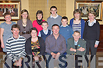 Padraig Daly Killorglin celebrates his 40th birthday with his family and friends in the Manor Inn Killorglin on Saturday night front row l-r: Diarmuid, Linda, Padraig and Patrick Daly. Back row: Margaret Murphy, Pauline O'Sullivan, Maureen Finn, Oisin, Patrick, Shane Daly, Breda Keating and Ann Flynn  ......