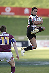Lelia Masaga goes high during the Air NZ Cup game between the Counties Manukau Steelers and Southland played at Mt Smart Stadium on 3rd September 2006. Counties Manukau won 29 - 8.