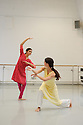 London, UK. 03.12.2015. Vidya Patel, BBC Young Dancer Finalist, and Nancy Nerantzi, Richard Alston Dance Company, working in the studio at The Place with choreographer Richard Alston on his new commission 'An Italian In Madrid' which premieres at Sadler's Wells on 29 Mar. Photograph © Jane Hobson.