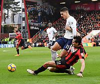 Tottenham Hotspur's Erik Lamela battles for possession with Bournemouth's Charlie Daniels <br /> <br /> Bournemouth 1 - 4 Tottenham Hotspur<br /> <br /> Photographer David Horton/CameraSport<br /> <br /> The Premier League - Bournemouth v Tottenham Hotspur - Sunday 11th March 2018 - Vitality Stadium - Bournemouth<br /> <br /> World Copyright &copy; 2018 CameraSport. All rights reserved. 43 Linden Ave. Countesthorpe. Leicester. England. LE8 5PG - Tel: +44 (0) 116 277 4147 - admin@camerasport.com - www.camerasport.com