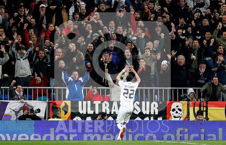Madrid, (20/12/10).- Estadio Santiago Bernabeu.16ª Jornada del Campeonato Nacional de Liga..Real Madrid 1- Sevilla 0.Di Maria gol...Photo:Alex Cid-Fuentes/ALFAQUI..