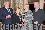 Pictured at the Lee Strand Social on Saturday night held In Ballygarry House Hotel and Spa were l-r: Sean Brosnan, Imelda Brosnan, Bridget Herlihy and Ted Herlihy (all Castleisland).