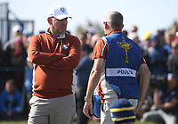 Thomas Bjorn (Team Europe Captain) during Saturday's Fourballs, at the Ryder Cup, Le Golf National, Île-de-France, France. 29/09/2018.<br /> Picture David Lloyd / Golffile.ie<br /> <br /> All photo usage must carry mandatory copyright credit (© Golffile | David Lloyd)