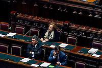 Roma, 6 Febbraio 2014<br /> Camera dei Deputati - Voto sul decreto legge 'Svuota carceri'<br /> Il ministro della Giustizia Anna Maria Cancellieri