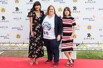 Mariam Bachir, Itziar Castro and Bruna Cusi at Sitges Film Festival in Barcelona, Spain October 11, 2017. (ALTERPHOTOS/Borja B.Hojas)