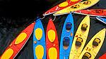 Kayaks, Glacier Bay, Alaska