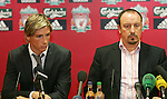 Liverpool unveil their Ukraine striker Andriy Voronin who is moving to Anfield on a free transfer