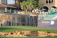 Water feature  at the 18th green during the Pro-Am for the DP World Tour Championship at the Jumeirah Golf Estates in Dubai, UAE on Monday 16/11/15.<br /> Picture: Golffile | Thos Caffrey<br /> <br /> All photo usage must carry mandatory copyright credit (&copy; Golffile | Thos Caffrey)