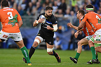 Elliott Stooke of Bath Rugby in possession. European Rugby Champions Cup match, between Bath Rugby and Benetton Rugby on October 14, 2017 at the Recreation Ground in Bath, England. Photo by: Patrick Khachfe / Onside Images