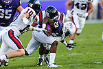 TCU Horned Frogs wide receiver Deante' Gray (20) in action during the game between the Samford Bulldogs and the TCU Horned Frogs at the Amon G. Carter Stadium in Fort Worth, Texas.  TCU leads Stamford 24 to 7 at halftime.