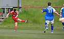 Robert Love (7) scores Albion Rovers' second goal ......