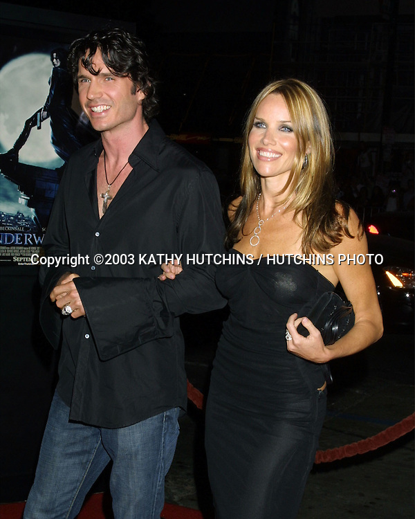 "©2003 KATHY HUTCHINS / HUTCHINS PHOTO.PREMIERE OF ""UNDERWORLD"".MANN'S CHINESE THEATER.HOLLYWOOD, CA.SEPTEMBER 15, 2003..SHANE BROLLY.SARAH BUXTON"