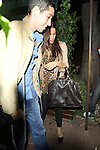 October 25th 2010  Monday night ..Sofia Vergara boyfriend Nick Loeb was hospitalized following a serious car accident & now he is walking around on crutches leaving Madeo's Italian restaurant in Beverly Hills. Sofia was wearing a cheetah print blouse shirt tan leather jacket & a big brown purse handbag ...AbilityFilms@yahoo.com.805-427-3519.www.AbilityFilms.com