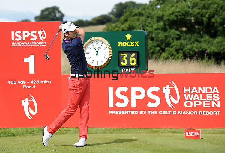 France's Gregory Bourdy in action during todays round <br /> <br /> Golf - Day 4 - ISPS Handa Wales Open 2013 - Twenty Ten Course- Sunday 1st September 2013 - Celtic Manor Resort  - Newport<br /> <br /> © www.sportingwales.com- PLEASE CREDIT IAN COOK