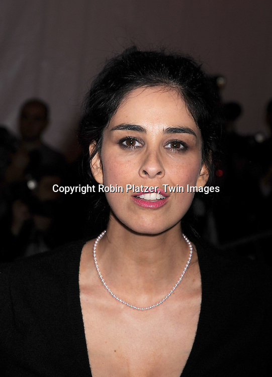 "Sarah Silverman.arriving at The Costume Institute Gala of The Metropolitan Museum of Art on May 5, 2008. The costume exhibit was .""Superheroies: Fashion and Fantasy...Robin Platzer, Twin Images"