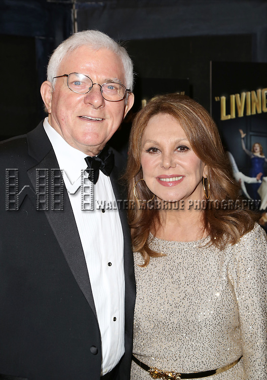 Phil Donahue and Marlo Thomas attends the Broadway Opening Night Performance After Party for 'Living on Love' at Sardi's on April 20, 2015 in New York City.