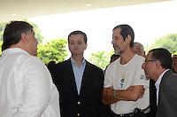 ATENCAO EDITOR: FOTO EMBARGADA PARA VEICULOS INTERNACIONAIS. SAO PAULO, SP, 14 DE DEZEMBRO DE 2012 - O prefeito Gilberto Kassab durante inauguracao da Marquise do Ibirapuera, regiao sul da capital, na manha desta sexta feira, 14.. FOTO: ALEXANDRE MOREIRA - BRAZIL PHOTO PRESS.