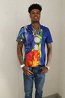 NEW YORK, NY - JUNE 2, 2019 Blueface backstage at Summer Jam at Met Life Stadium, June 2, 2019 in East Rutherford, NJ. <br /> CAP/MPIWG<br /> ©WG/MPI/Capital Pictures