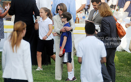 United States House Minority Leader Nancy Pelosi (Democrat of California) attends the Congressional Picnic on the South lawn of the White House, June 15, 2011, in Washington D.C..Credit: Olivier Douliery / Pool via CNP