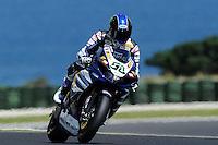 PHILLIP ISLAND, 26 FEBRUARY - Eugene Laverty (IRL) riding the Yamaha YZF R1 (58) of the Yamaha World Superbike Team during Superpole qualifying for round one of the 2011 FIM Superbike World Championship at Phillip Island, Australia. (Photo Sydney Low / syd-low.com)