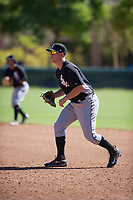 Chicago White Sox first baseman Gavin Sheets (25) during an Instructional League game against the Los Angeles Dodgers on September 30, 2017 at Camelback Ranch in Glendale, Arizona. (Zachary Lucy/Four Seam Images)