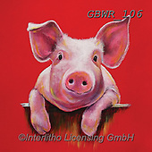 Simon, REALISTIC ANIMALS, REALISTISCHE TIERE, ANIMALES REALISTICOS, paintings+++++Card_AdamB_LittlePiggy,GBWR106,#a#, EVERYDAY,pig