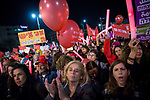 Thousands protest at Rabin Square as part of a nationwide strike protesting the violence against women, following the murders of two young women in the past week, in Tel Aviv, on December 4, 2018. Photo by: JINIPIX
