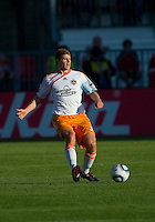 01 July 2010:  Houston Dynamo defender Andrew Hainault #31in action during a game between the Houston Dynamo and the Toronto FC at BMO Field in Toronto..Final score was 1-1....