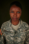 Staff Sgt. Shavonda Devereaux, 23, Columbia, SC, Medic, Charlie Medical Company 501st Field Support Battalion 1st Brigade 1st Armored Division taken at the company's medical facility at Camp Ramadi, Iraq on Monday Oct. 02, 2006.<br />
