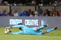 San Jose, CA - Saturday September 30, 2017: Andrew Tarbell during a Major League Soccer (MLS) match between the San Jose Earthquakes and the Portland Timbers at Avaya Stadium.