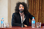 Lebanese violinist Ara Malikian during the presentation of his next concert tour at Teatro Real in Madrid. April 12, 2016. (ALTERPHOTOS/Borja B.Hojas)
