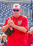22 May 2015: Washington Nationals Manager Matt Williams prepares to take some sideline tosses prior to a game against the Philadelphia Phillies at Nationals Park in Washington, DC. The Nationals defeated the Phillies 2-1 in the first game of their 3-game weekend series. Mandatory Credit: Ed Wolfstein Photo *** RAW (NEF) Image File Available ***